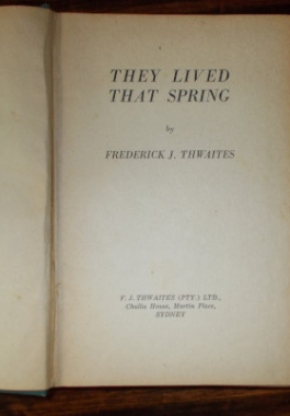 They Lived That Spring Page